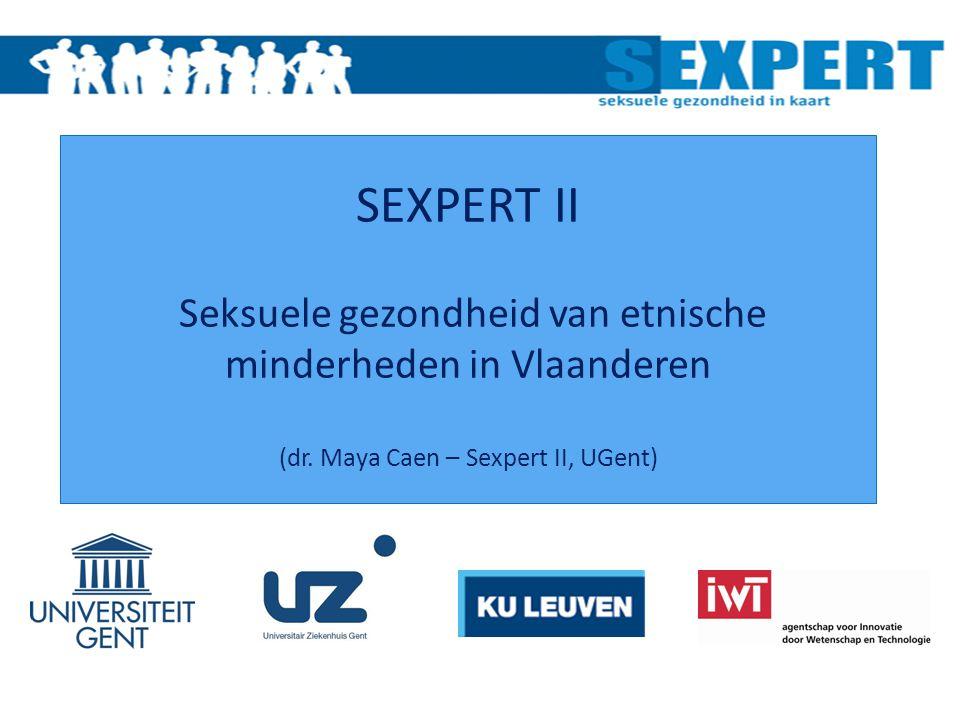 SEXPERT II Seksuele gezondheid van etnische minderheden in Vlaanderen (dr.