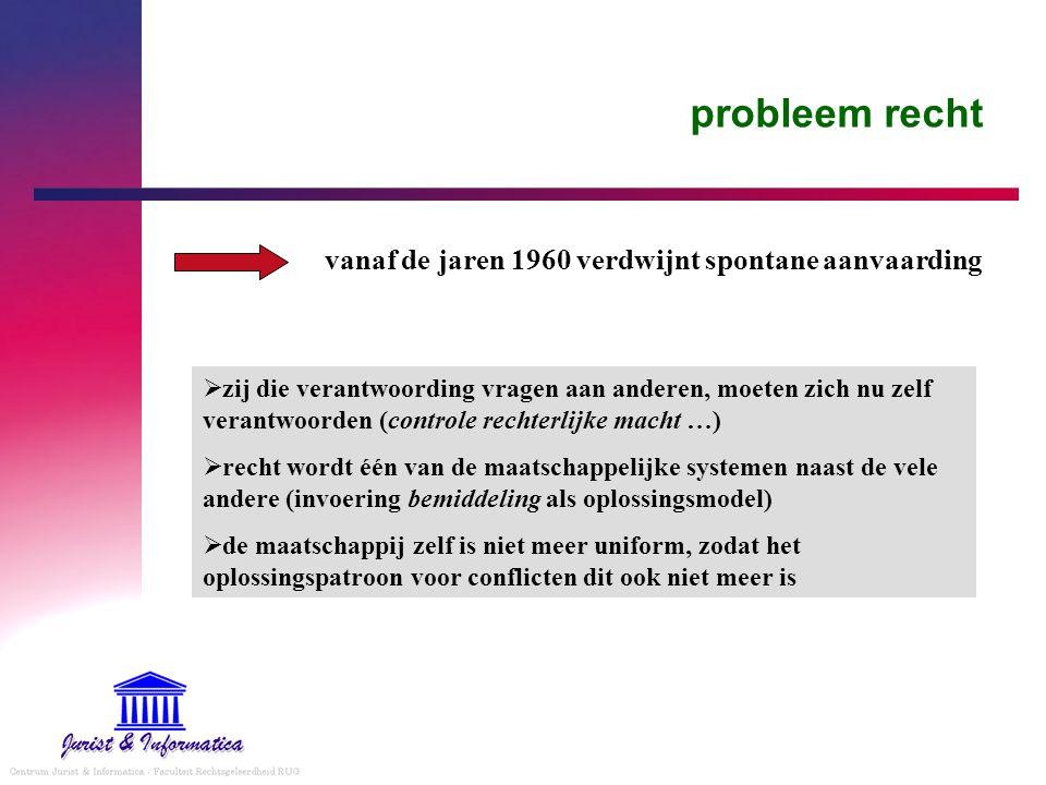oplossing - 5 grote stromingen in het recht duiden - elk van deze stromingen legt bepaalde aspecten bloot - maatschappelijke kader waarin het recht zich beweegt