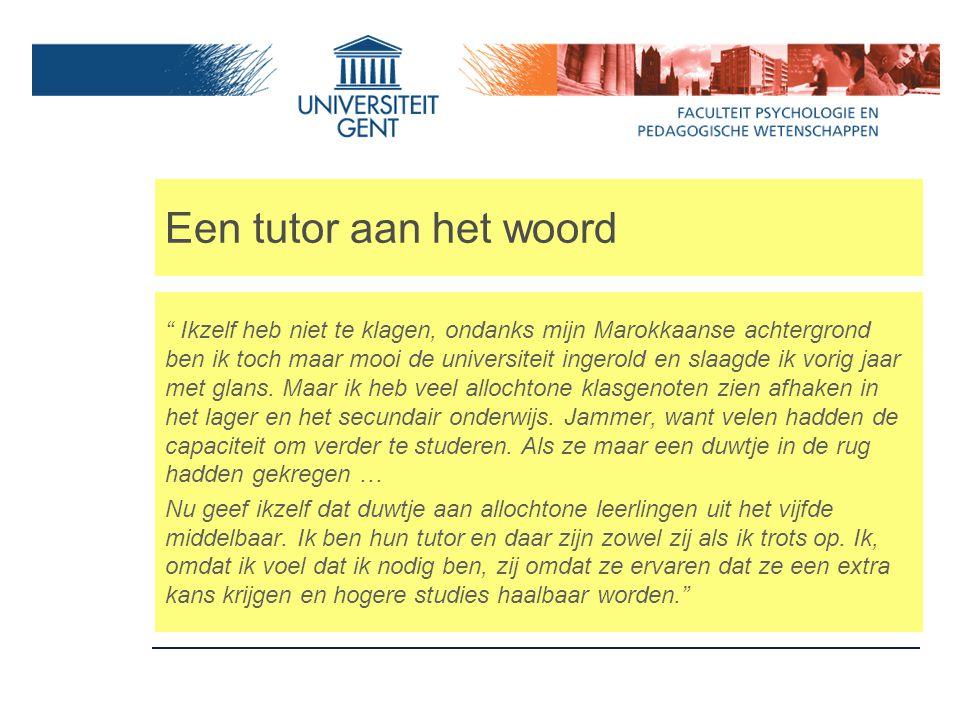 """Een tutor aan het woord """" Ikzelf heb niet te klagen, ondanks mijn Marokkaanse achtergrond ben ik toch maar mooi de universiteit ingerold en slaagde ik"""