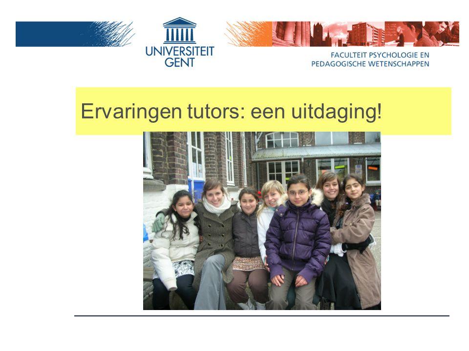 Ervaringen tutors: een uitdaging!