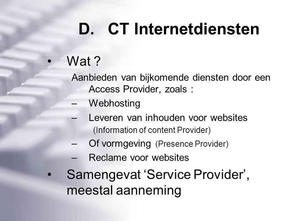D.CT Internetdiensten Wat .