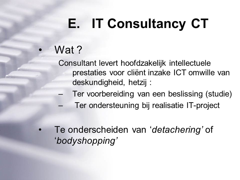 E.IT Consultancy CT Wat .