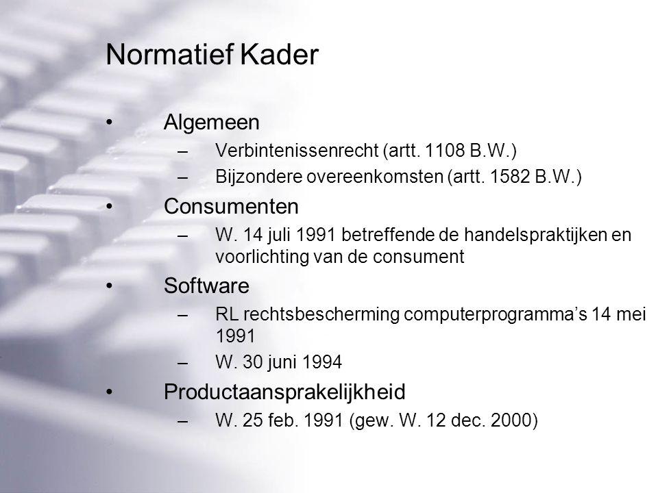 Normatief Kader Algemeen –Verbintenissenrecht (artt.
