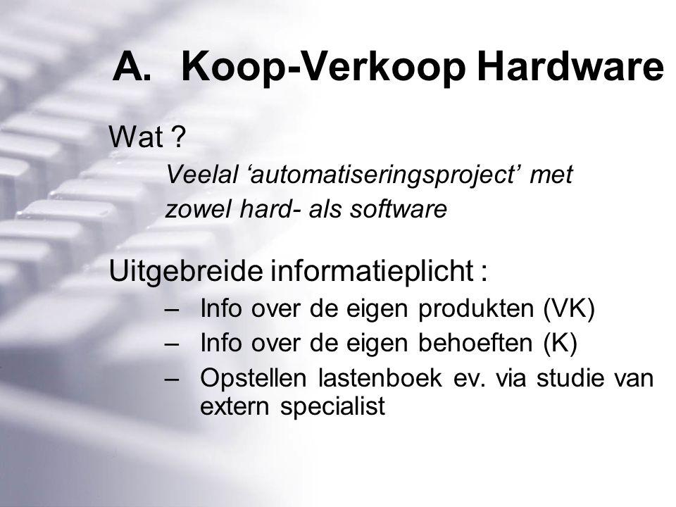 A.Koop-Verkoop Hardware Wat .