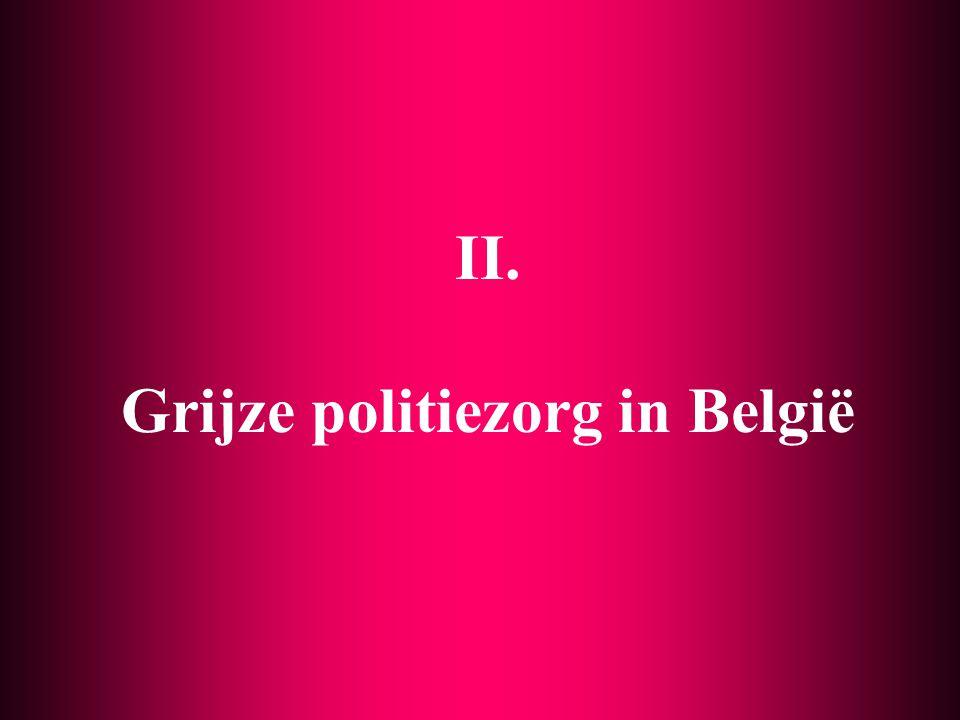 Onderzoek naar private politie en grijze politie 7 Kwetsbare kennis (e.a.) M. Cools, H. Haelterman (VUB) 1998 e.v.