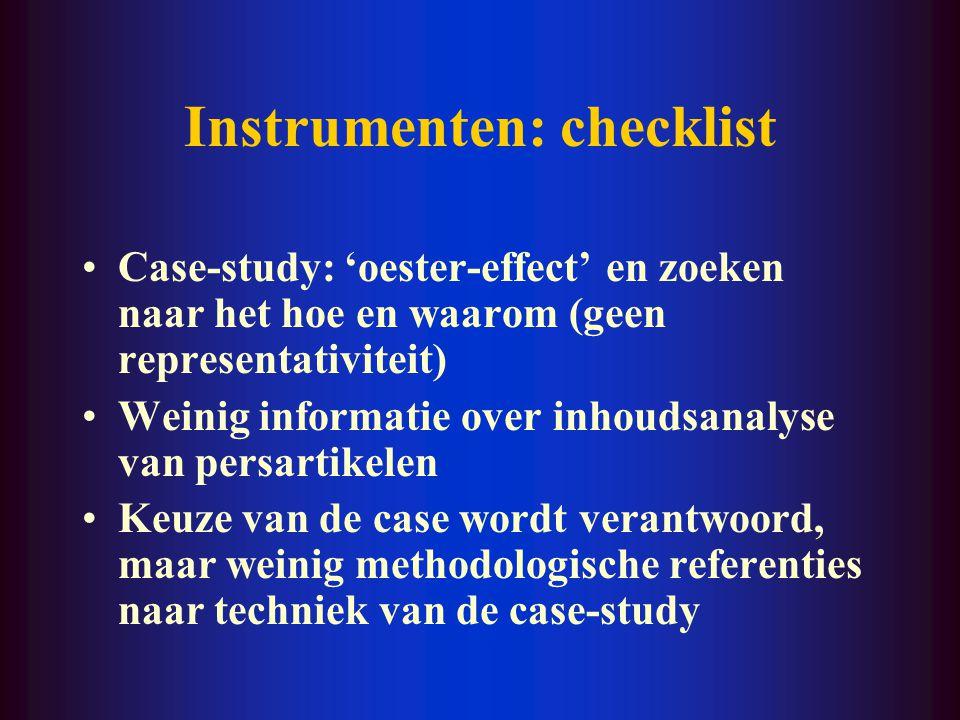 Design: checklist Op de juiste plaats? Verklaring voor de selectie?