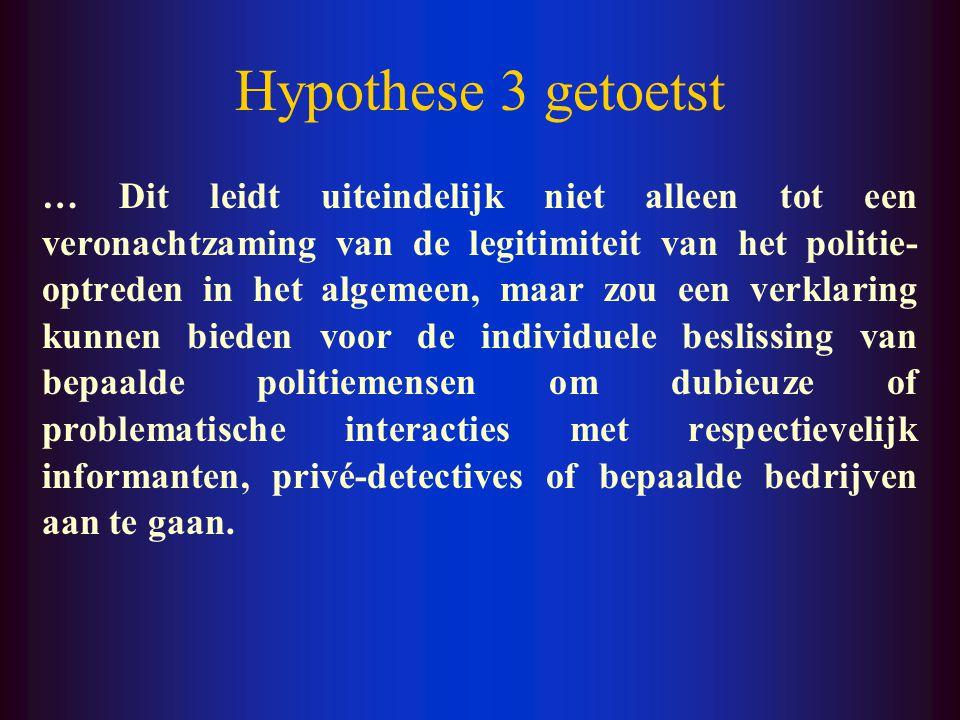 Hypothese 3 getoetst De leemtes in de politie-opleiding, de Amerikaanse greep op het politiewerk en de invloed van charismatische figuren kunnen de drempel voor problematische publiek-private interacties verlagen.