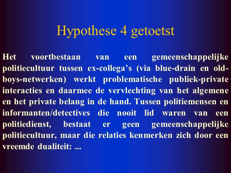 Hypothese 3 getoetst … Dit leidt uiteindelijk niet alleen tot een veronachtzaming van de legitimiteit van het politie- optreden in het algemeen, maar
