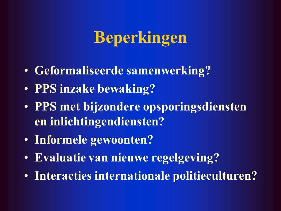 Meerwaarde Verfijningen van het conceptueel kader - interacties i.p.v. samenwerking - grey policing (ook voor politie zelf) - niet altijd gemeenschapp