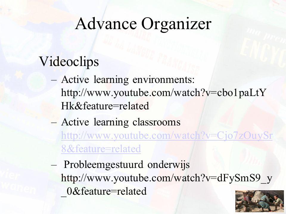 Onderwijskundig referentiekader Organisatievorm –Werk vooral in groepjes, teams en met 'peer tutoring'.