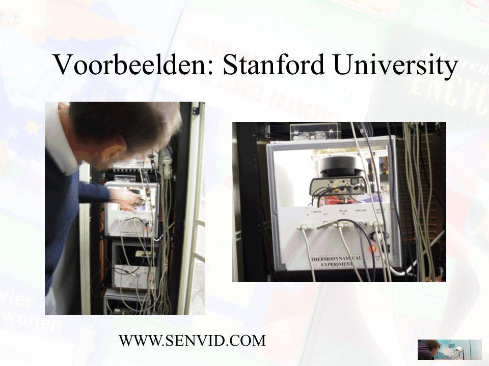 Voorbeelden: Stanford University WWW.SENVID.COM