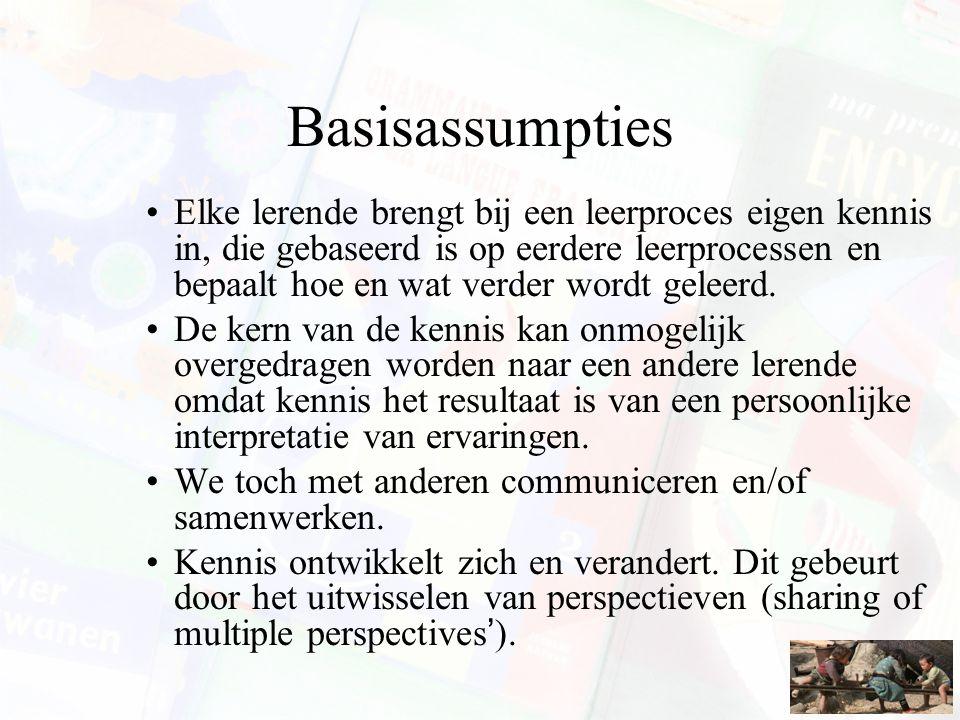 Cognitive apprenticeship Leerstof: –Concrete domeinkennis, heuristische strategieën, controlestrategieën, leerstrategieën (metacognitieve kennis).