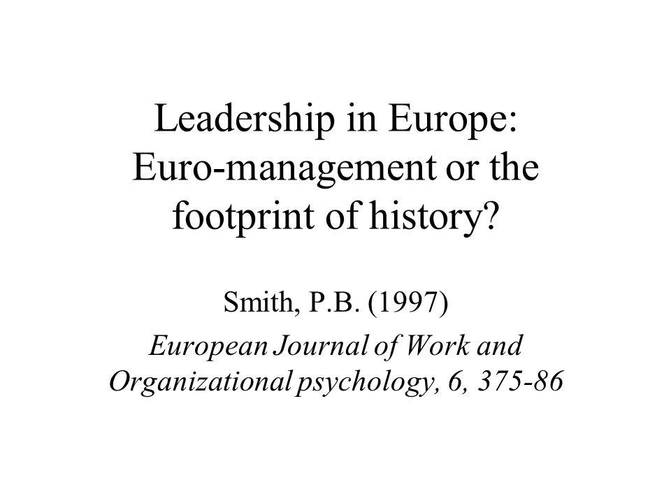 Leadership in Europe Introductie Analyse van Trompenaars Project Event Management Implicaties voor individuele managers Training interventies Conclusie