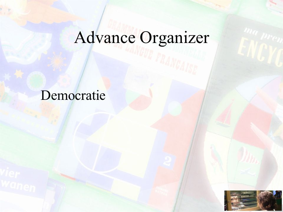 Advance Organizer Democratie