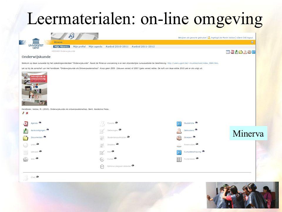 Leermaterialen: on-line omgeving Minerva