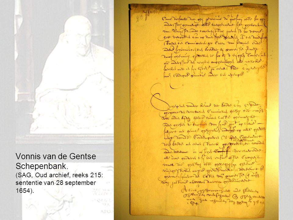 16 Vonnis van de Gentse Schepenbank. (SAG, Oud archief, reeks 215: sententie van 28 september 1654).