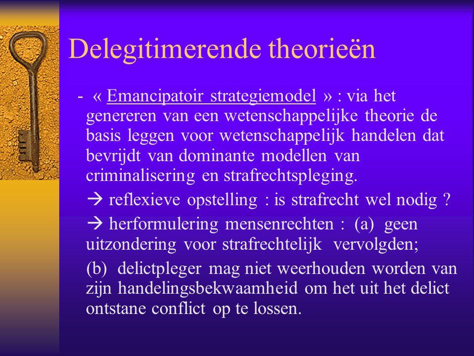 Delegitimerende theorieën - « Emancipatoir strategiemodel » : via het genereren van een wetenschappelijke theorie de basis leggen voor wetenschappelij