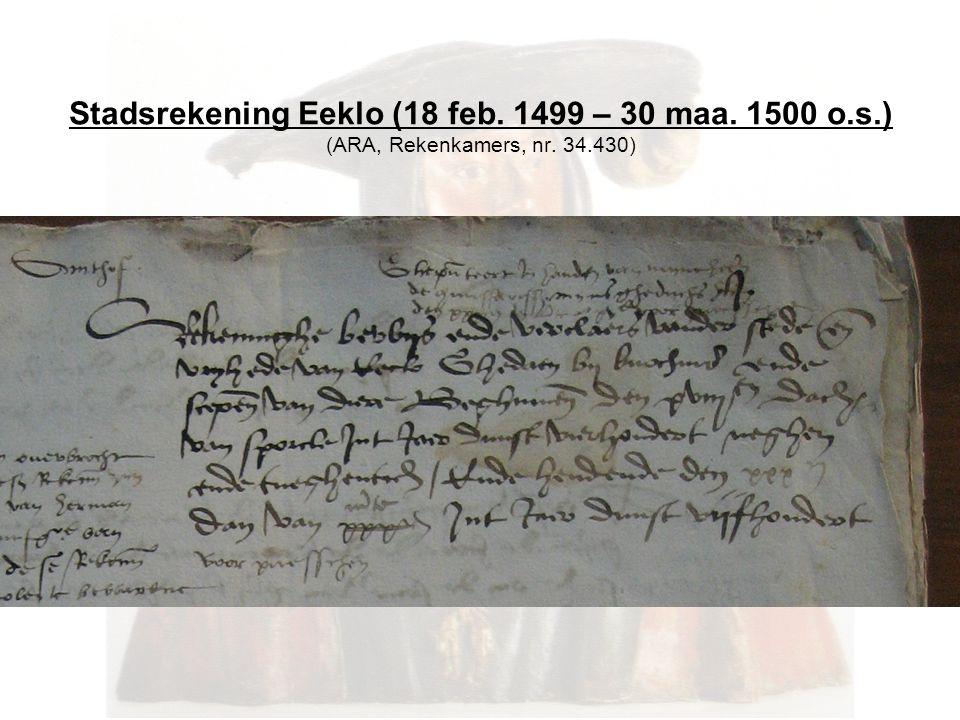 Stadsrekening Eeklo (18 feb. 1499 – 30 maa. 1500 o.s.) (ARA, Rekenkamers, nr. 34.430)