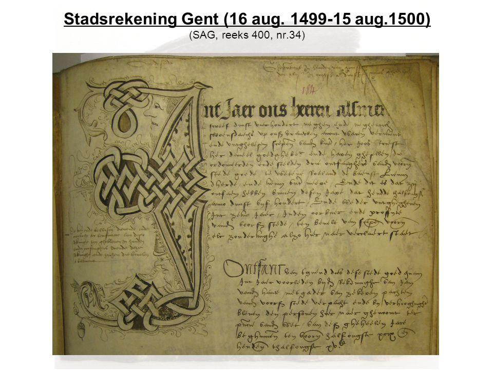 Stadsrekening Gent (16 aug. 1499-15 aug.1500) (SAG, reeks 400, nr.34)