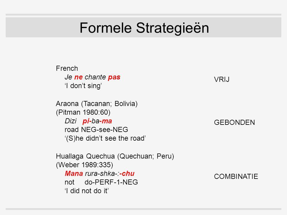 Jespersen's Cycle 1.jeo ne di(Oud Frans) 2.je ne dis pas(Modern Standaard Frans) 3.je dis pas(Modern Gesproken Frans) 'Ik zeg niet'