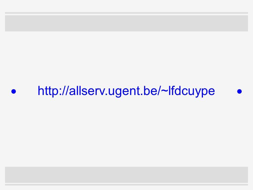  http://allserv.ugent.be/~lfdcuype 