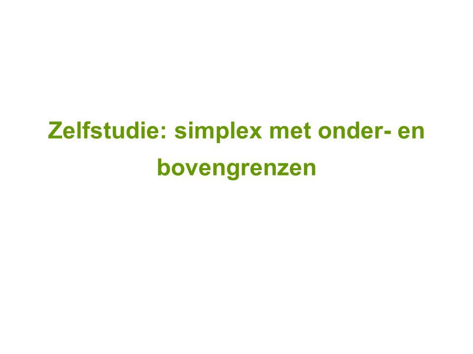 Zelfstudie: simplex met onder- en bovengrenzen