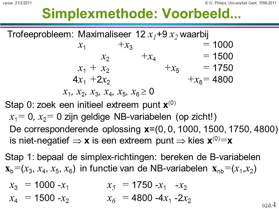 © W. Philips, Universiteit Gent, 1998-2011versie: 21/2/2011 02d.