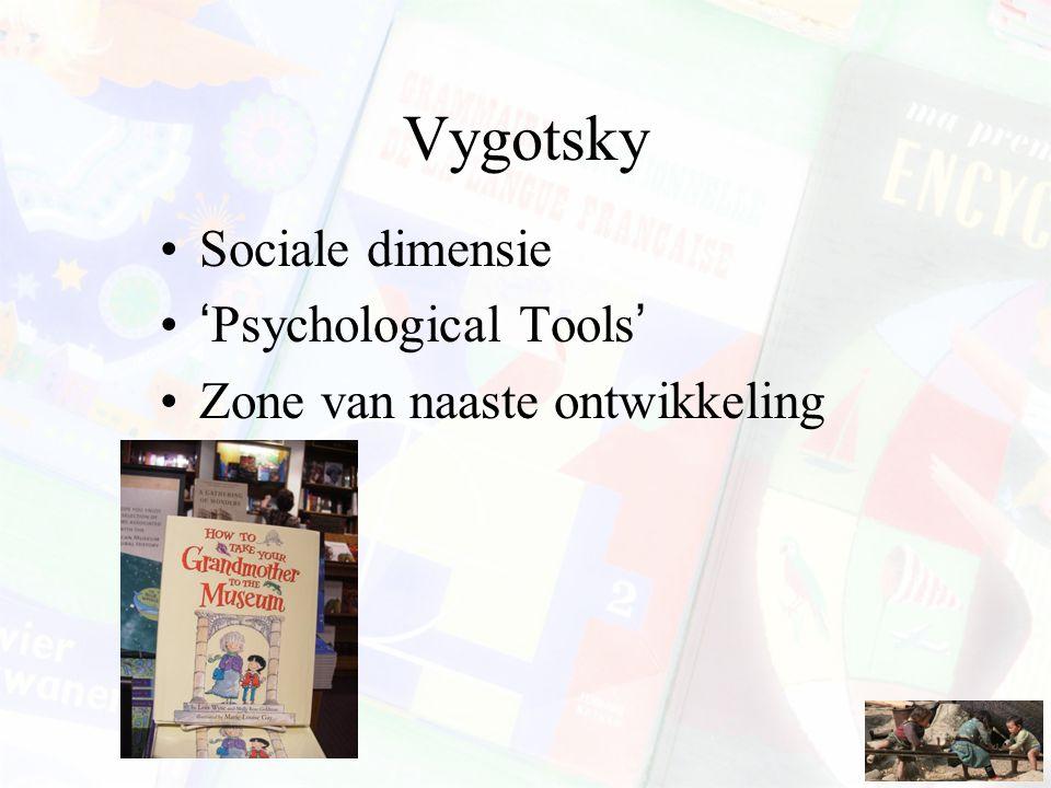 Vygotsky Sociale dimensie 'Psychological Tools' Zone van naaste ontwikkeling