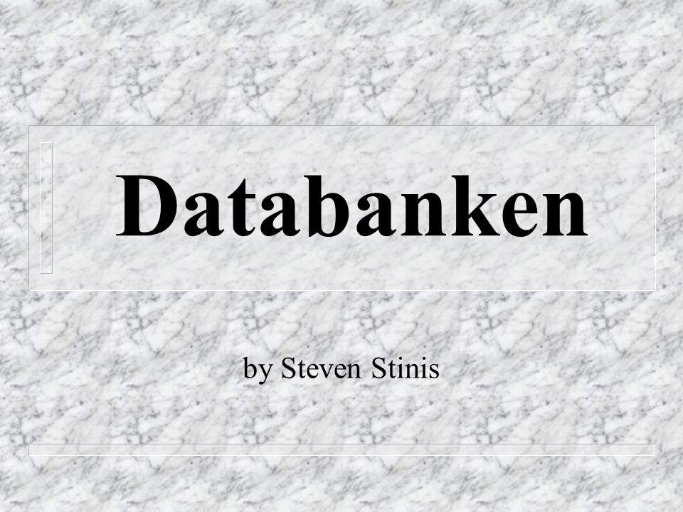 Databankonderhoud