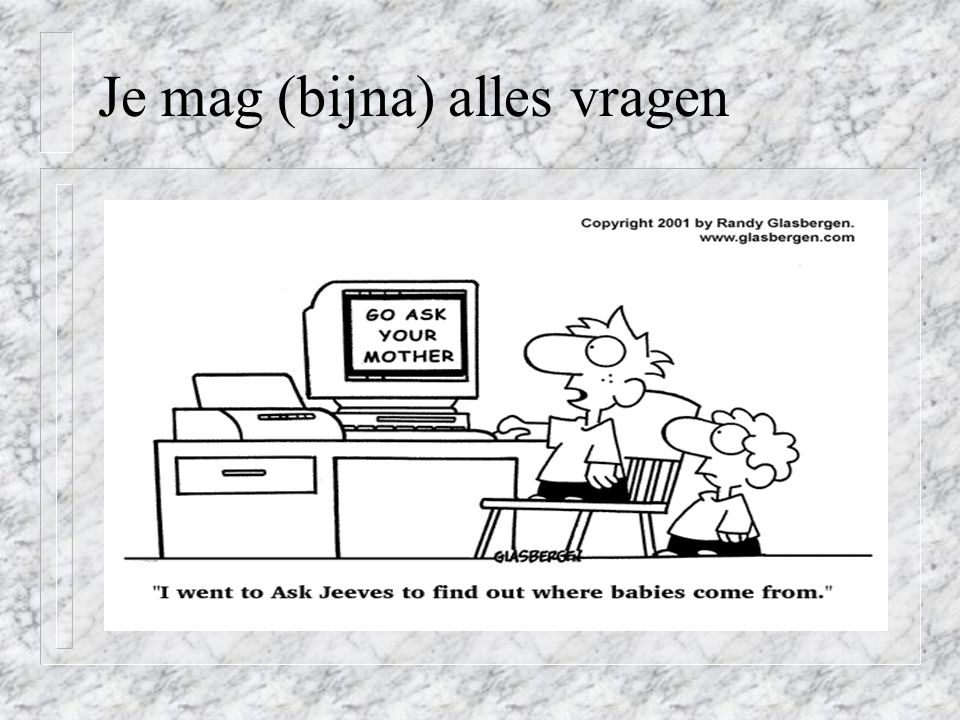 Oefening: Juist of Fout.