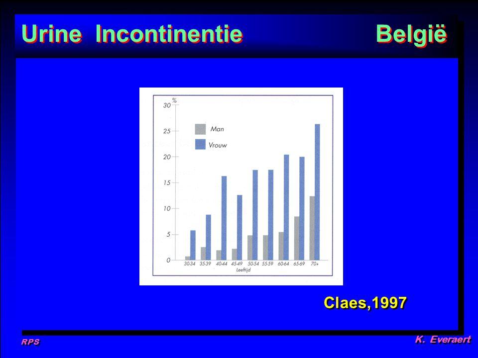 RPS K. Everaert Claes,1997 Urine Incontinentie België P1