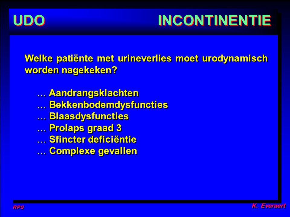 RPS K.Everaert UDO Welke patiënte met urineverlies moet urodynamisch worden nagekeken.