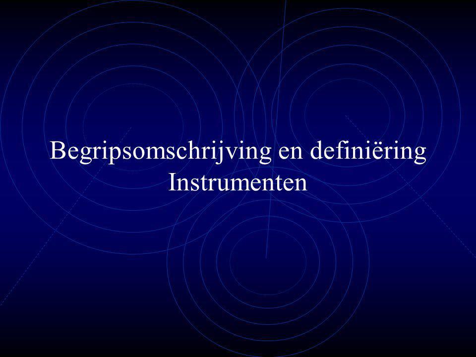 Instrumenten Wat is belangrijk om te meten.Ernst van het misbruik: feitelijke gegevens m.b.t.