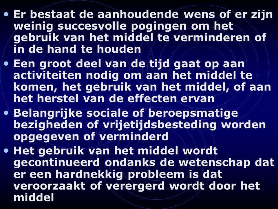 EuropASI principes (2) Elk leefgebied = onafhankelijk interview Onafhankelijk van drug / alcohol gebruik (vb.