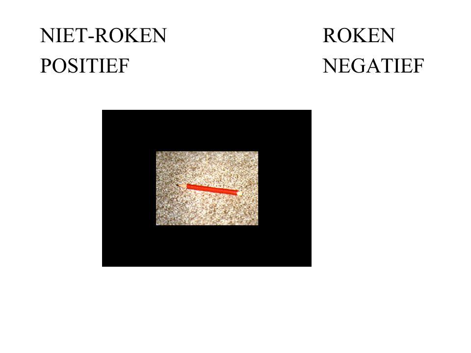 NIET-ROKENROKEN POSITIEFNEGATIEF