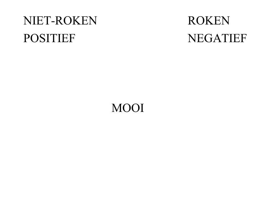 NIET-ROKENROKEN POSITIEFNEGATIEF MOOI