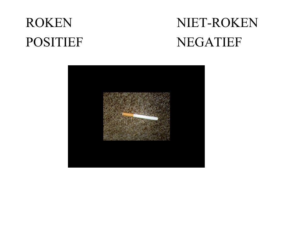 ROKENNIET-ROKEN POSITIEFNEGATIEF