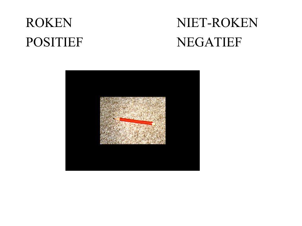 ROKENNIET-ROKEN POSITIEFNEGATIEF MOOI
