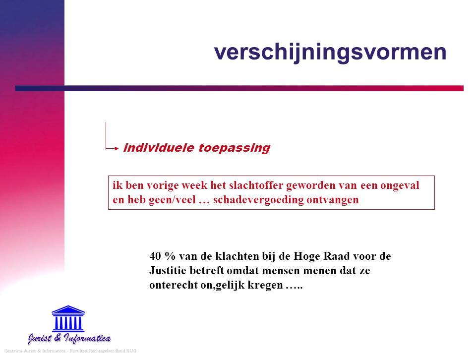 gerechtelijk privaatrecht - 2 A.rechterlijke organisatie B.