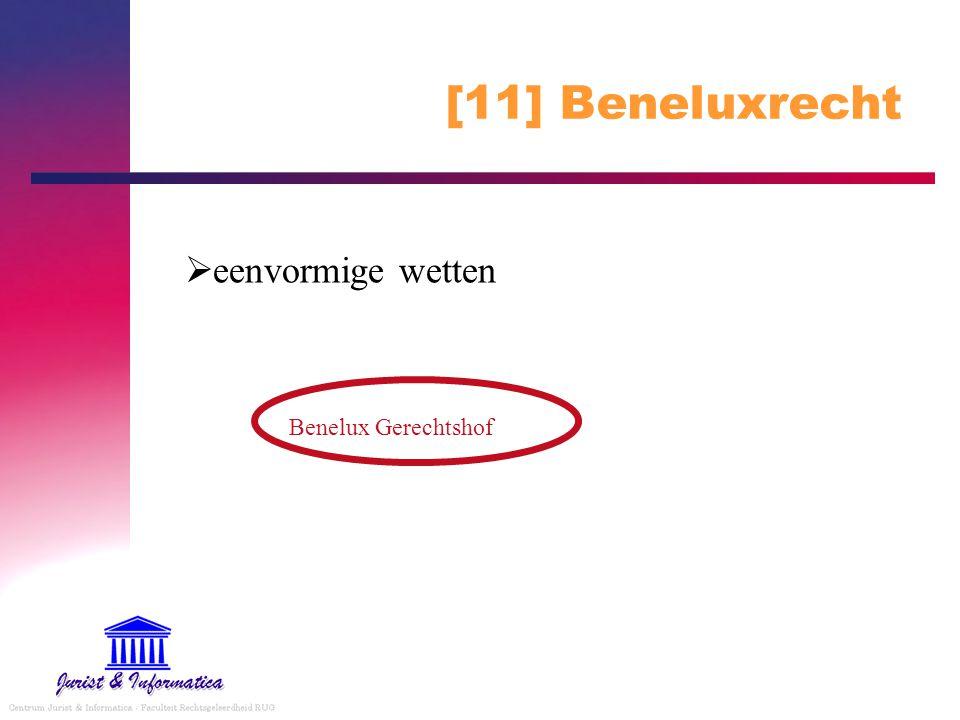 [11] Beneluxrecht  eenvormige wetten Benelux Gerechtshof
