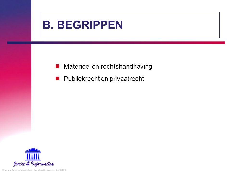 § 1 - materieel - formeel recht een onderscheid tussen regels die rechtsaanspraken toekennenherstel bieden bij overtreding formeel recht materieel recht handhavingsrecht