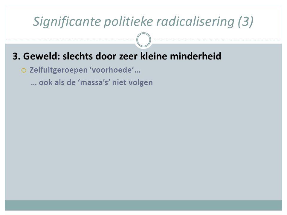 Significante politieke radicalisering (3) 3.