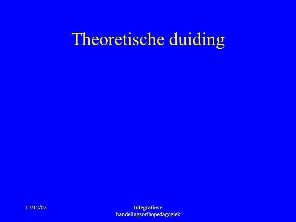 17/12/02Integratieve handelingsorthopedagogiek Theoretische duiding