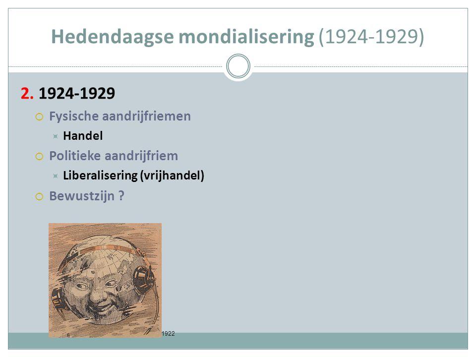 Hedendaagse mondialisering (1924-1929) 2.