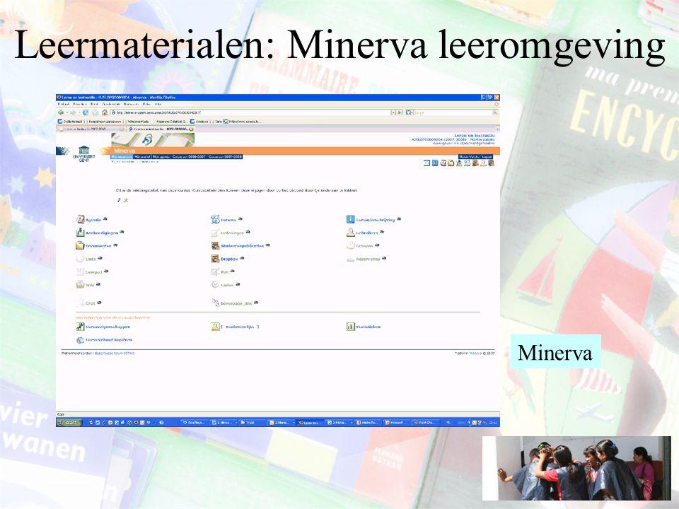 Leermaterialen: Minerva leeromgeving Minerva