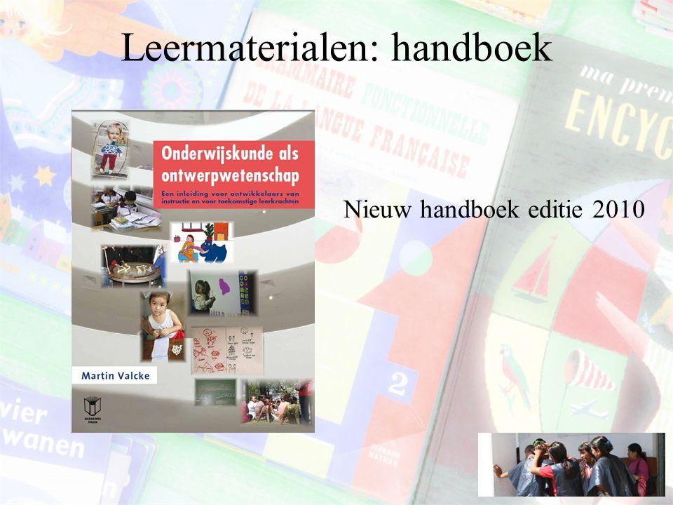 Leermaterialen: handboek Nieuw handboek editie 2010