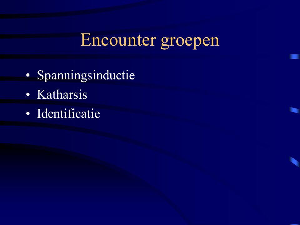 Encounter groepen Spanningsinductie Katharsis Identificatie
