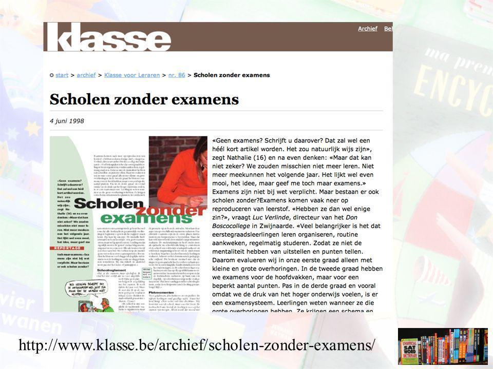 http://www.klasse.be/archief/scholen-zonder-examens/