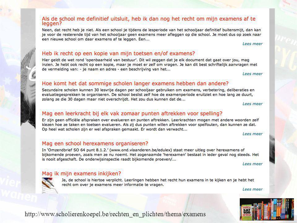 http://www.scholierenkoepel.be/rechten_en_plichten/thema/examens