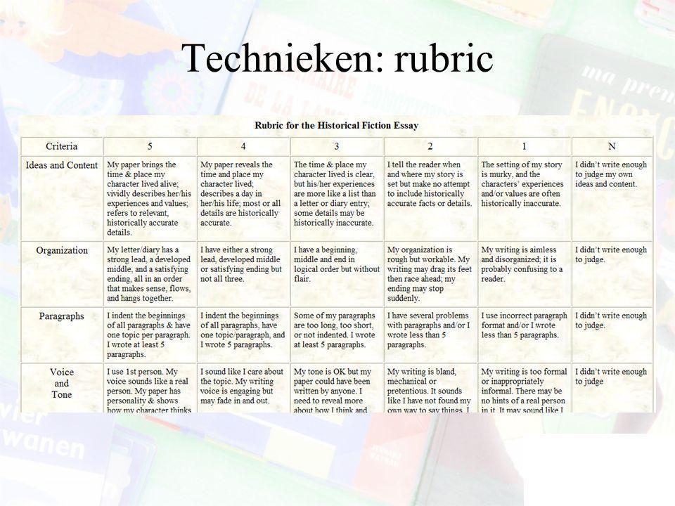 Technieken: rubric